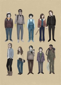 PLAKAT STRANGER THINGS 50x70 żółty